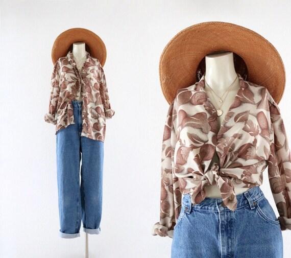 chiffon blouse - m