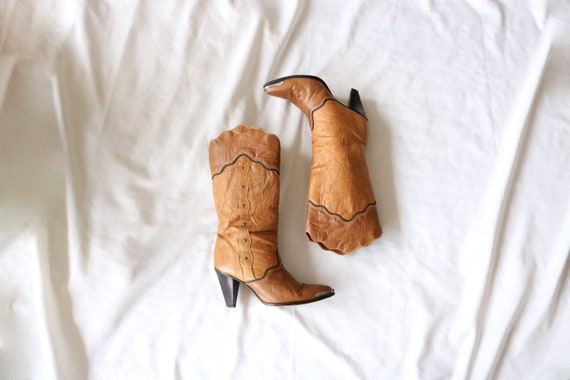 honey leather boots - 8.5