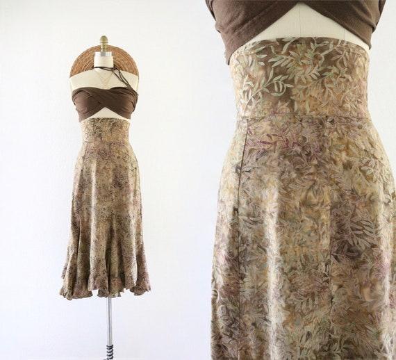 high waisted foliage skirt - xs - image 1