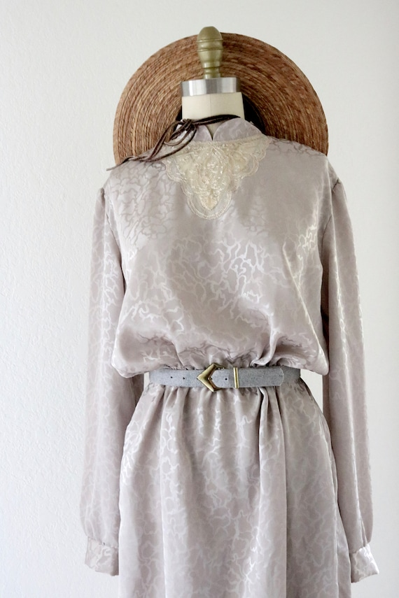 silky lace front dress - image 7