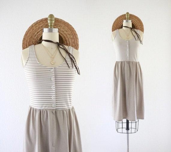 micro stripe sun dress - xs