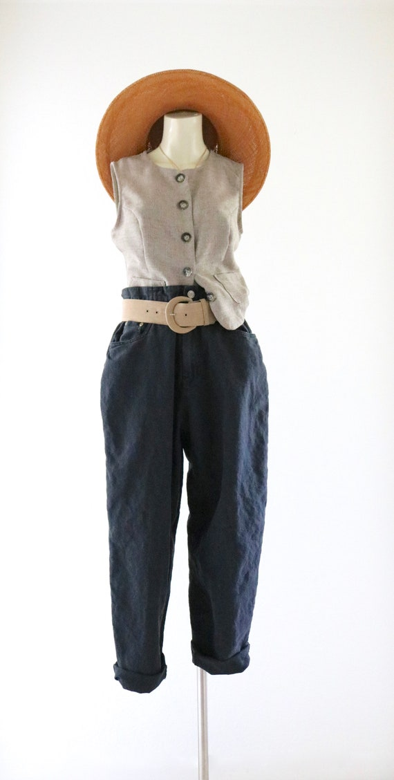 linen trousers - 28 - image 2