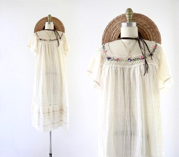 billowy natural gauze dress