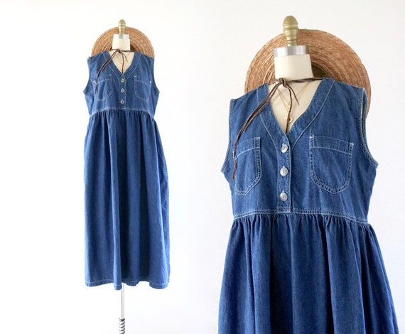 chambray market dress - l