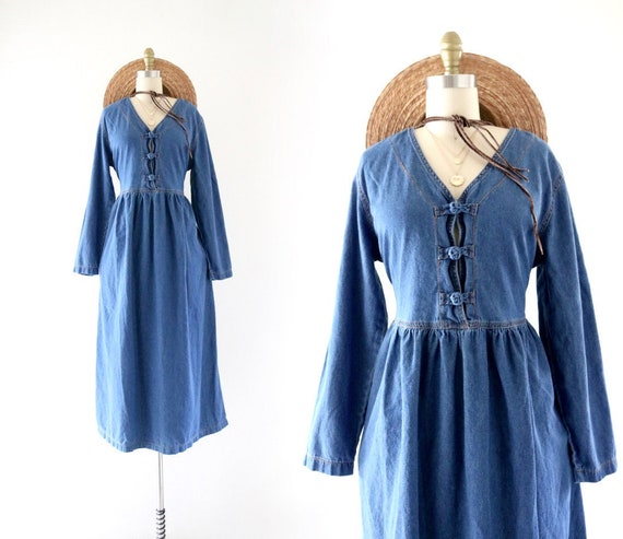 chambray market dress - m/l