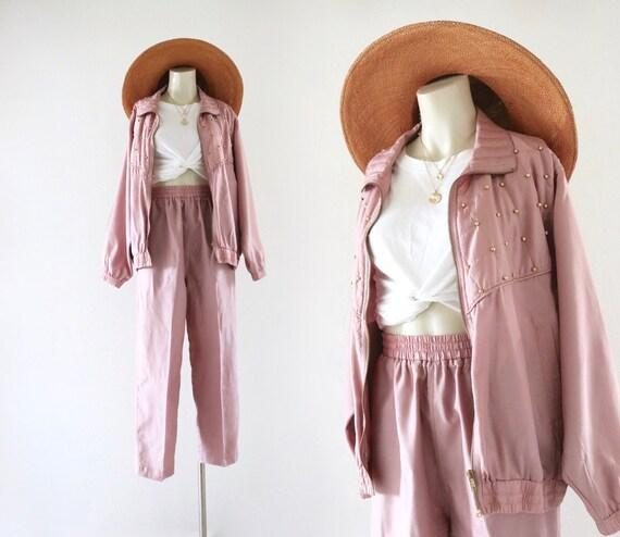 silk jacket + pants set