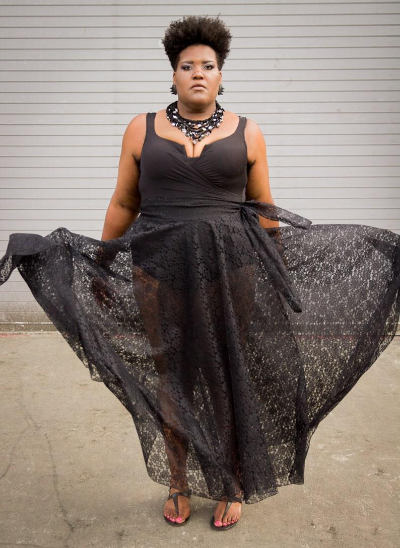 790d21cf274 Lace Plus Size Maxi Skirt plus size High Waist   plus size 2