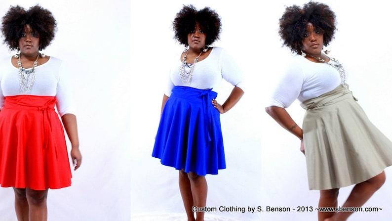 Plus Size Skirt / Women plus size high waist / plus size Pink image 0