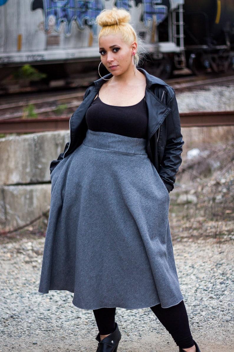 923b3c1743312 Trendy Plus Size Swing Skirt   Women plus size High Waist