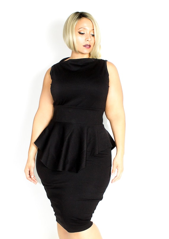 Plus Size Custom Peplum Dress