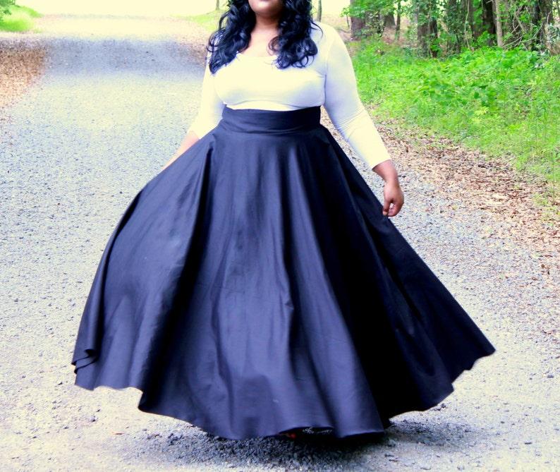 b5e60a855ae Plus Size Maxi Skirt   Women plus size High Waist   plus size