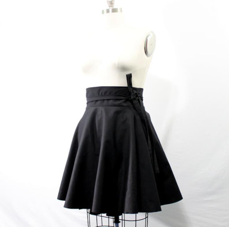Plus Size Skater Skirt High Waist Wrap Skirt  2  24  image 0