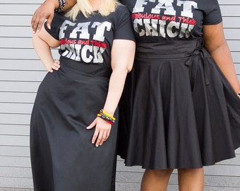 Plus Size Clothing Fat Chick Tshirt