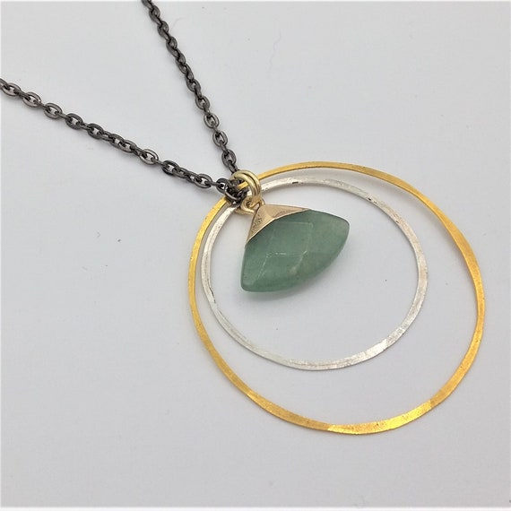 Jade with Circles Necklace