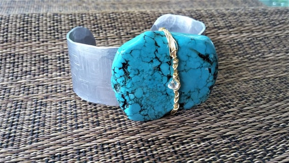 Etched Turquoise Cuff