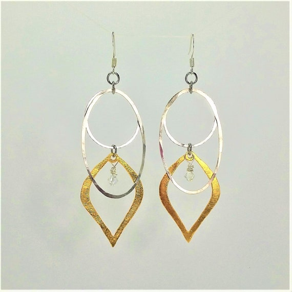 Shero earrings- Silver & Brass