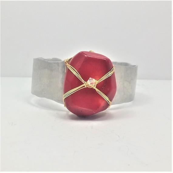 Red Coral Cuff
