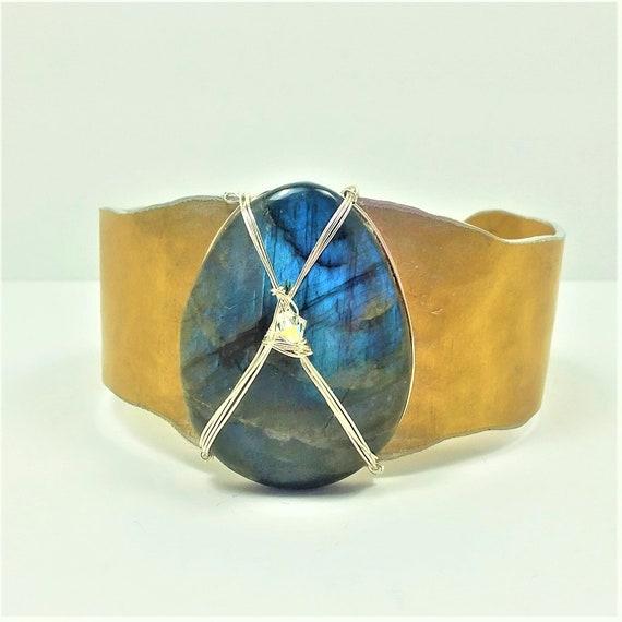 Blue Labradorite Cuff