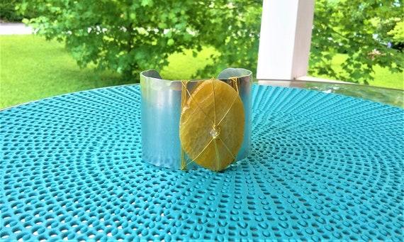 Golden agate cuff