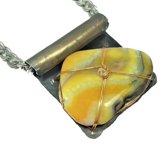 Golden Striped Agate Necklace