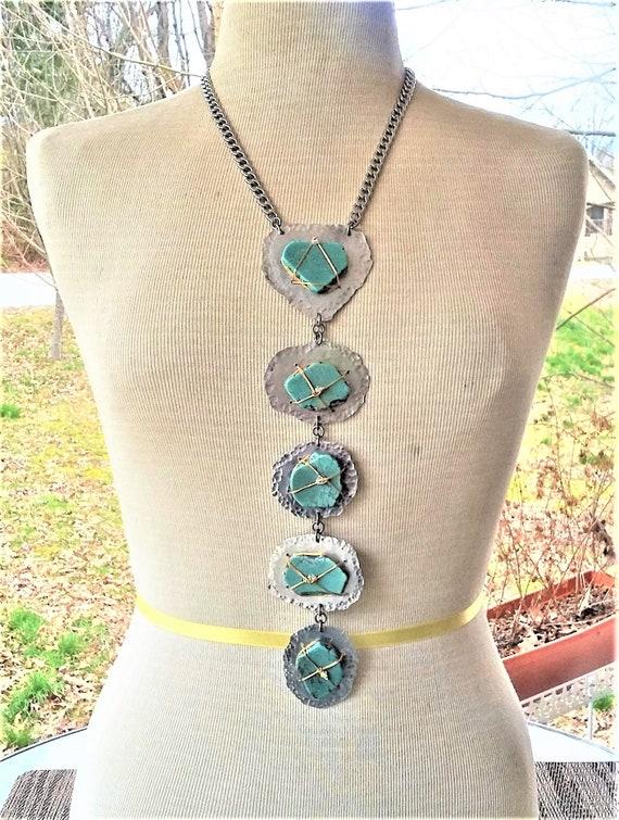 BOHO Bolo Style Turquoise Necklase