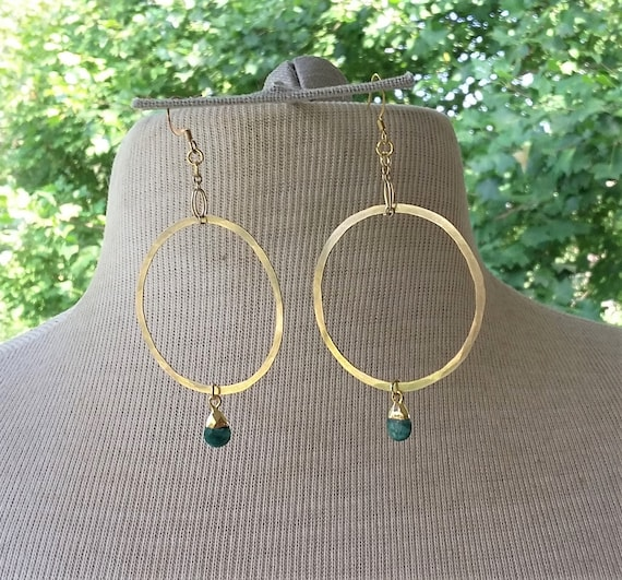 Emeralds on Handcrafted Brass