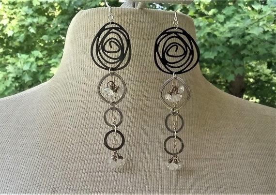 Lisa Earrings!  Herkimer Diamonds Long Sexy earrings