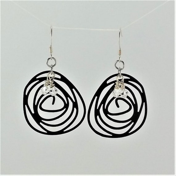 Freeform Swirl Earrings