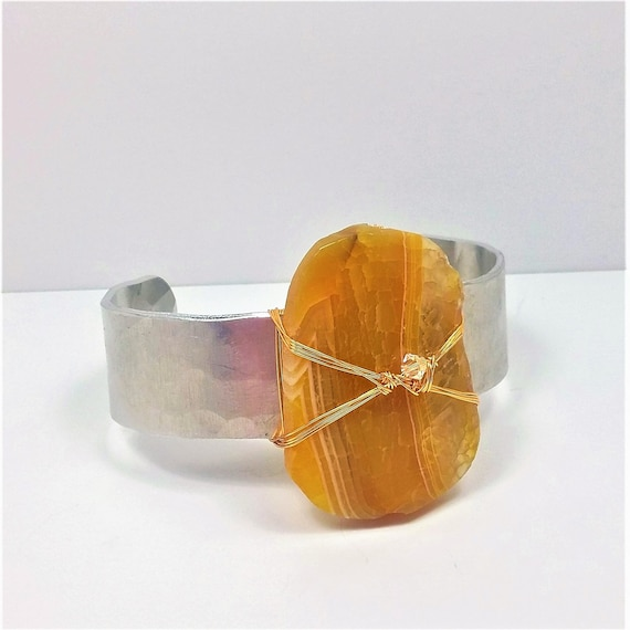 Golden Agate Cuff