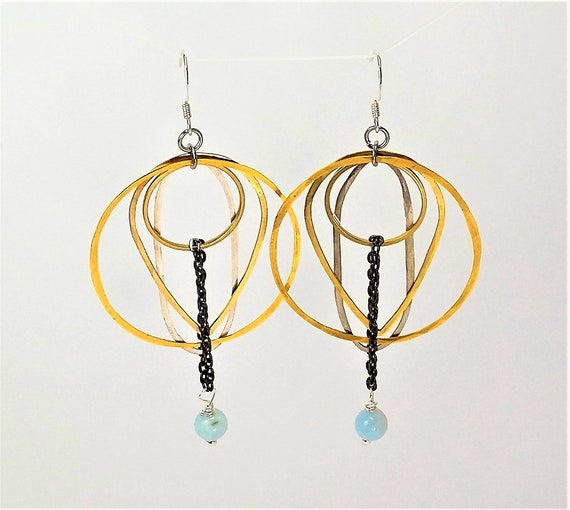 Natural Aquamarine Earrings