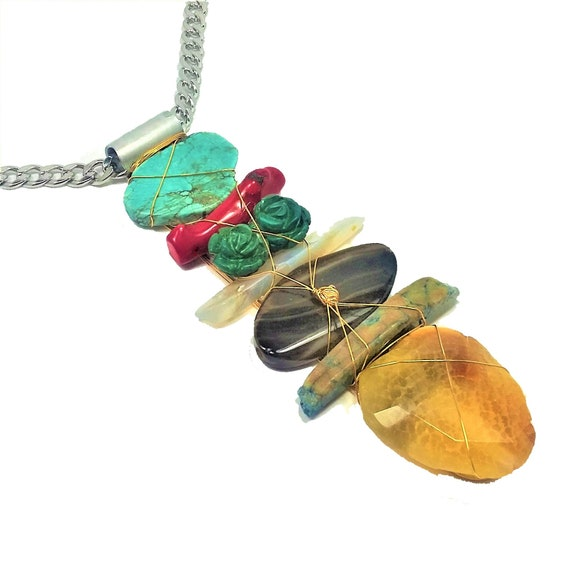 Turquoise Totem Necklace