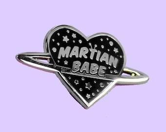 Gold Hard Enamel Pin Martian Babe