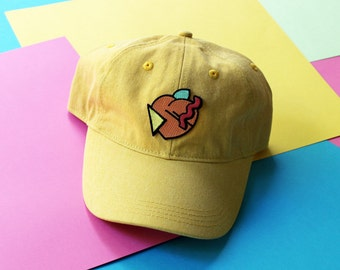 80s Peach Patch Baseball Hat - Strapback LIMITED