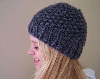 Bright Blue Chunky Knit Hat Chunky Knit Beanie Hat Blue  2a558d32bcb