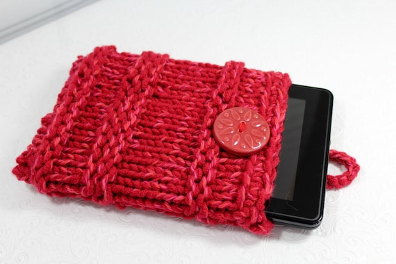 Cherry Red Chunky Knit IPad Mini Sleeve Knit Kindle Fire  bf60fa1da