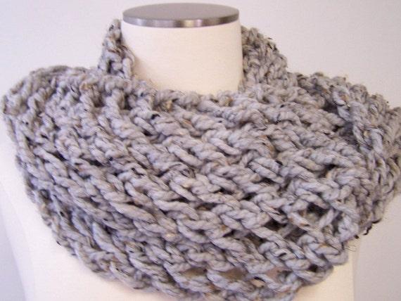 Stricken Schal klobige stricken Infinity Loop Schlauchschal | Etsy