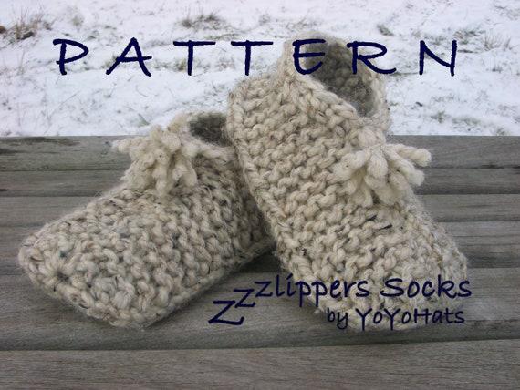Slippers Knitting Pattern Adult Slipper Socks Knitting Etsy