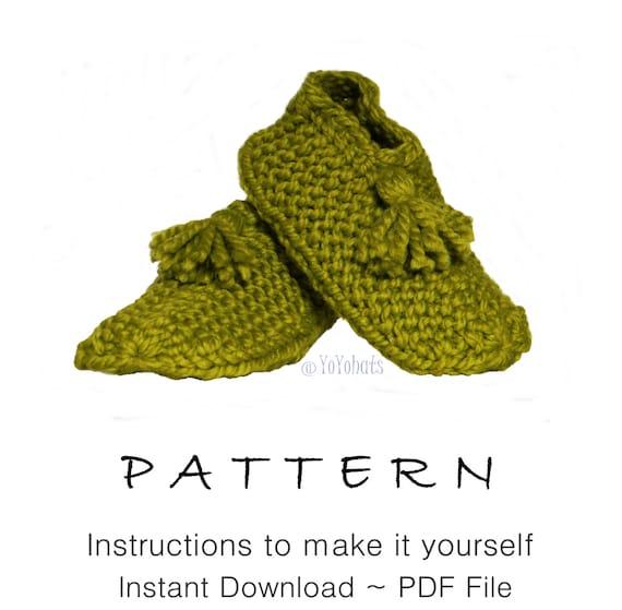 Knitted Slippers Pattern S Small Slipper Socks Easy Pattern Etsy