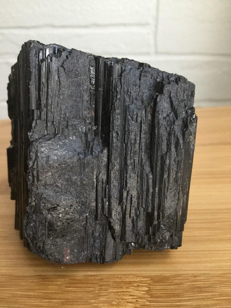 raw Black Tourmaline chunk cryatal home decor protection healing Black Tourmaline crystal electromagnetic protection