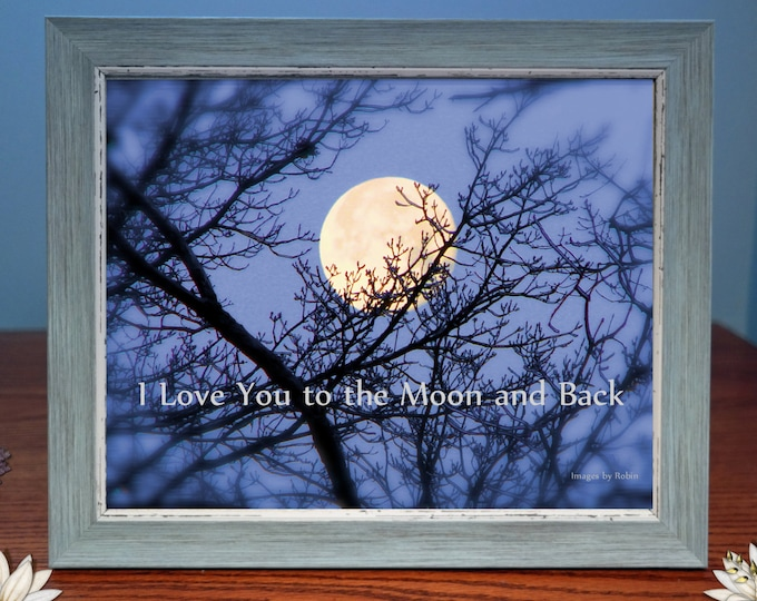 Digital Photo Gift | Love You To The Moon and Back - Framed Photo Gift