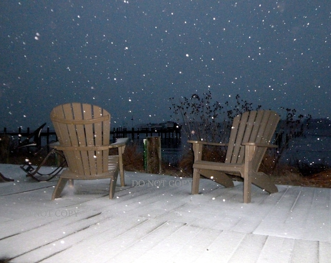 Winters Night Snow Falling Photograph- Download & Create Wall Art For Your Home| Digital Photo Gift