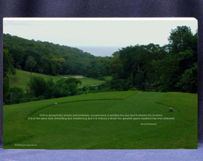 Inspirational Gifts| Photo Plaque For Golfers - Famous Golf Quote by Arnold Palmer