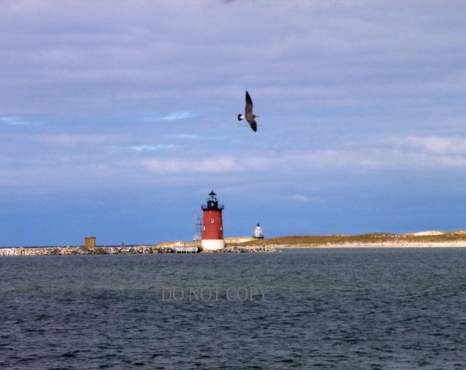 Cape Henlopen Light House Photograph - Beach Decor  Downloadable - Frame or Create Your Own Canvas Art