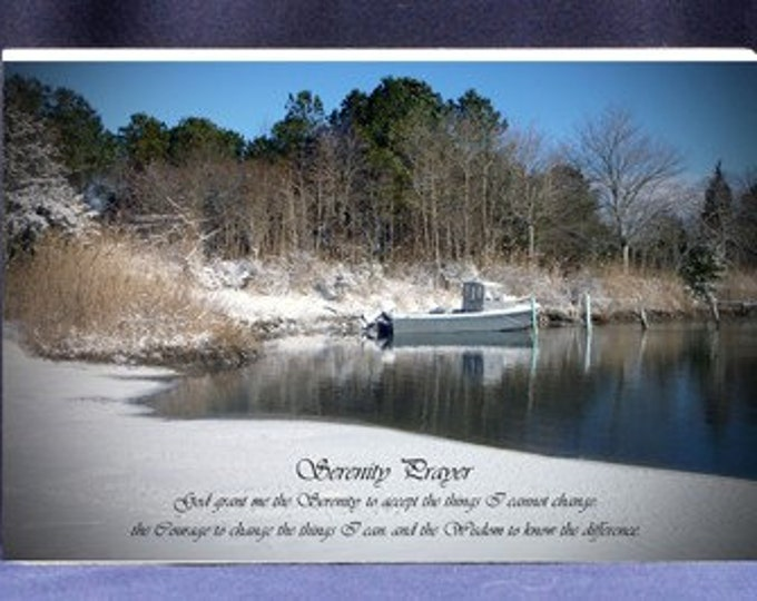 Serenity Prayer Religious Gift Plaque Beautiful Photo and Poem