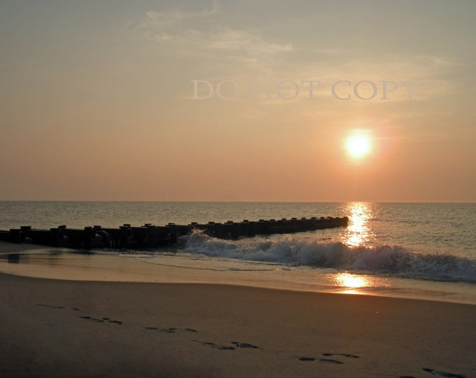 Sunrise Over The Ocean| Beautiful Beach Photography | Printable Download - Great Beach Decor | Gift Idea