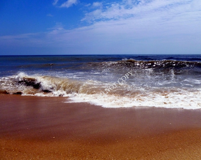 Ocean Waves Photograph  Create Your Own Beach House Photo Gift   Printable Download - Canvas Art or Framed Photo Gifts