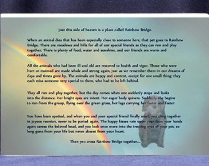 Photo Personalized Rainbow Bridge Pet Sympathy Gift| Pet Loss Sympathy Gift - Memorial Photo Gift
