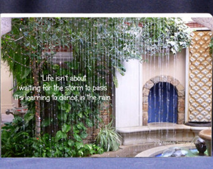 Photo Gift Plaque | Life Isnt About Waiting For The Storm To Pass|Photo of Rain In Villa- Digital Print and Photo Mount