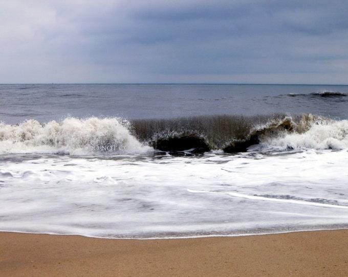 Ocean Waves   Stunning Blue Sky Over Ocean Photograph - Downloadable Print   Digital Photo Gifts - Create Framed Art - Canvas Photo Art