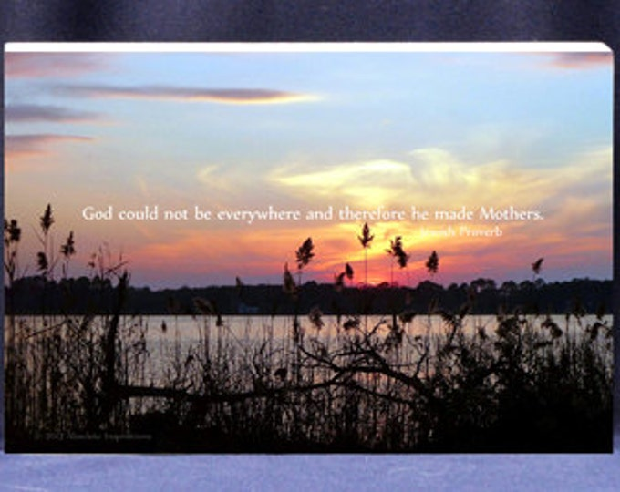 Religious Gift Plaque For Mom God Could Not Be Everywhere